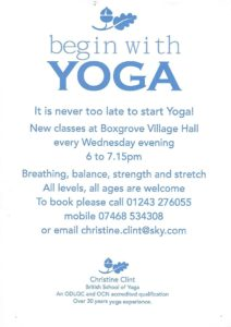 begin with YOGA @ Small Hall, Boxgrove Village Hall