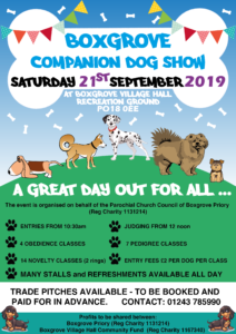 Boxgrove Companion Dog Show @ Boxgrove Village Hall and Green